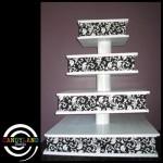 Giant Damask Cupcake Stand - White Frame