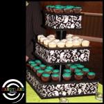 Small Damask Cupcake Stand