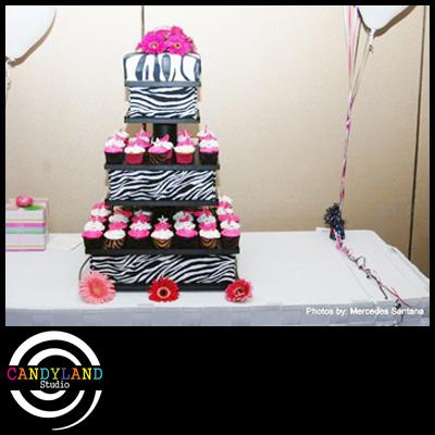 Small Zebra Cupcake Stand