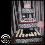 Giant Cupcake Stand - White Damask