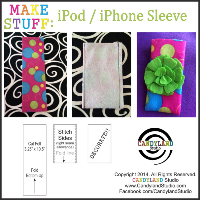 DIY iPod iPhone Sleeve Candyland Studio