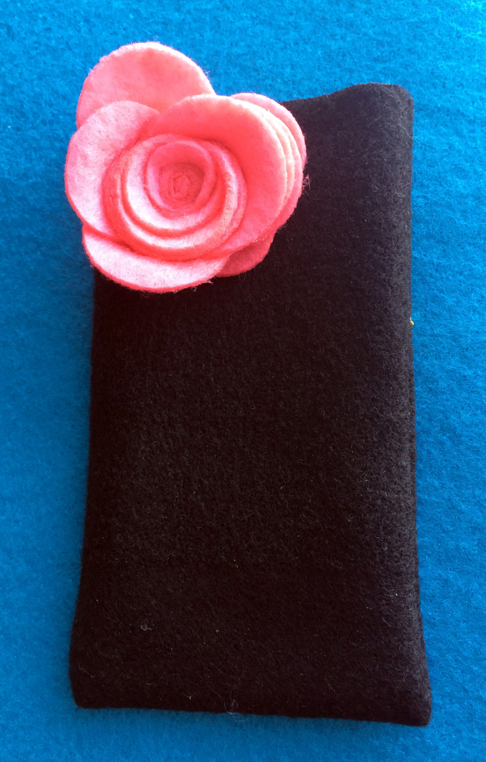 Felt Rose iPod Sleeve by Candyland Studio