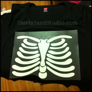 Pregnant Skeleton Costume Iron On Decal Instructions
