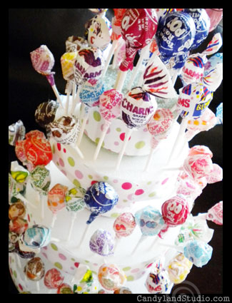 Tootsie Pop Cake