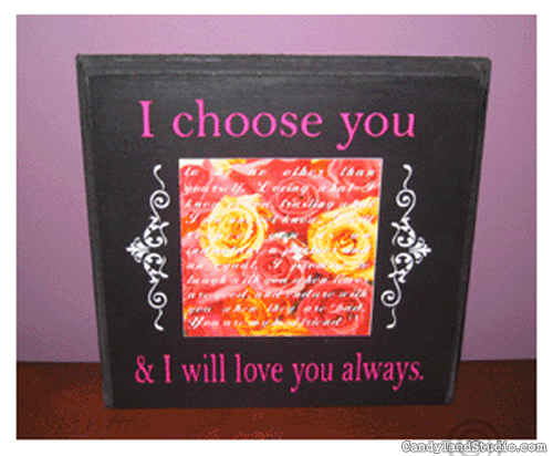 Wedding Vow Plaque