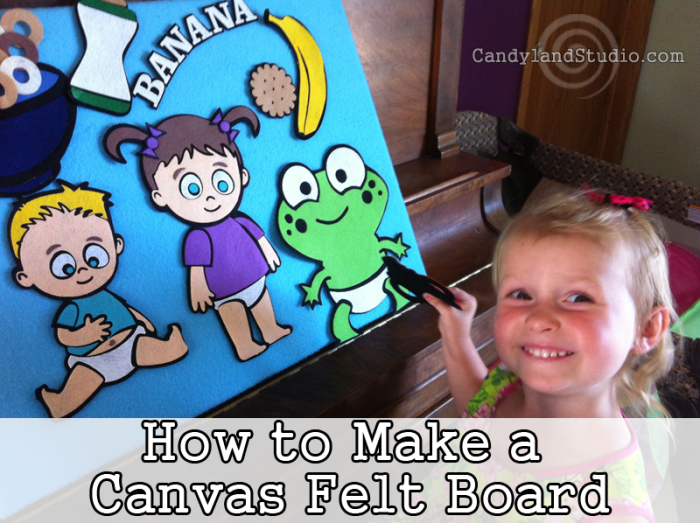 How to DIY a Canvas Felt Board