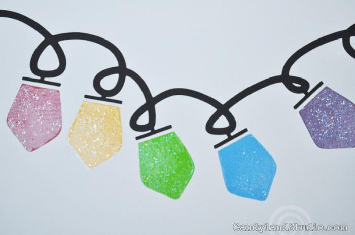 Christmas Bulbs with Glitter Mod Podge