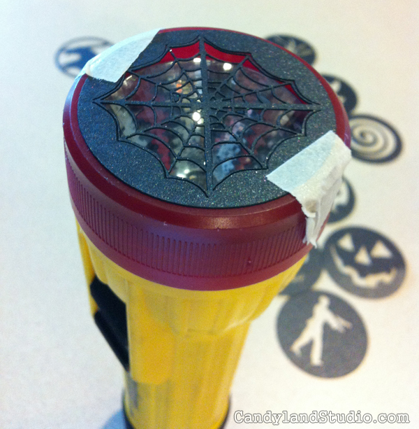 DIY Spiderweb Flashlight Cover for Halloween