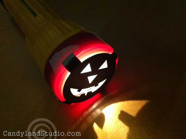 DIY Pumpkin Flashlight Cover for Halloween