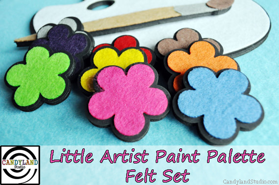 Little Artist Paint Palette Felt Set for Flannel Board