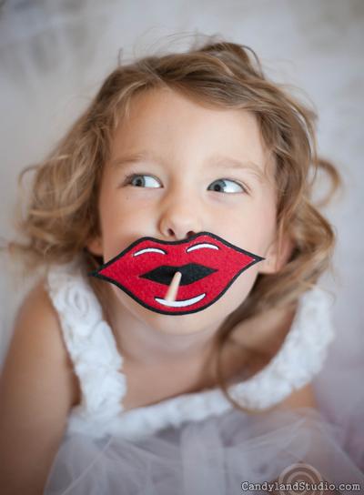 Felt Lips Lollipop Cover by Candyland Studio