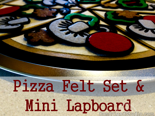 Pizza Pan Felt Set With Mini Lapboard by Candyland Studio