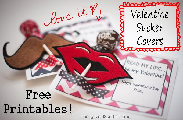 felt sucker cover + free valentine printable, Ideas