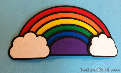 3D Felt Rainbow by Candyland Studio