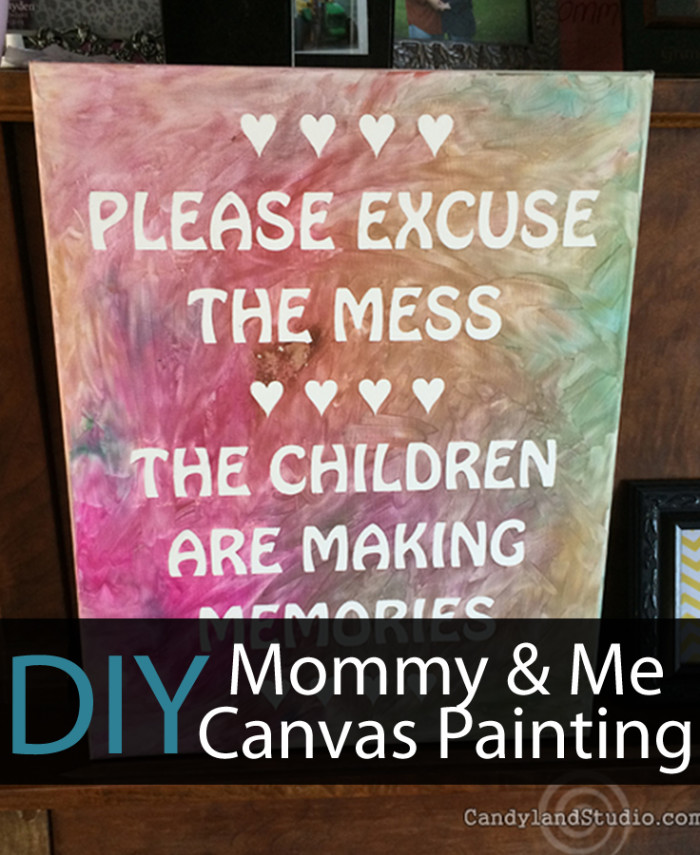 Candyland Studio Mommy & Me Painted Canvas