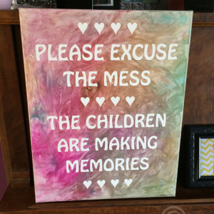 Mommy & Me Project - Finished Painted Canvas
