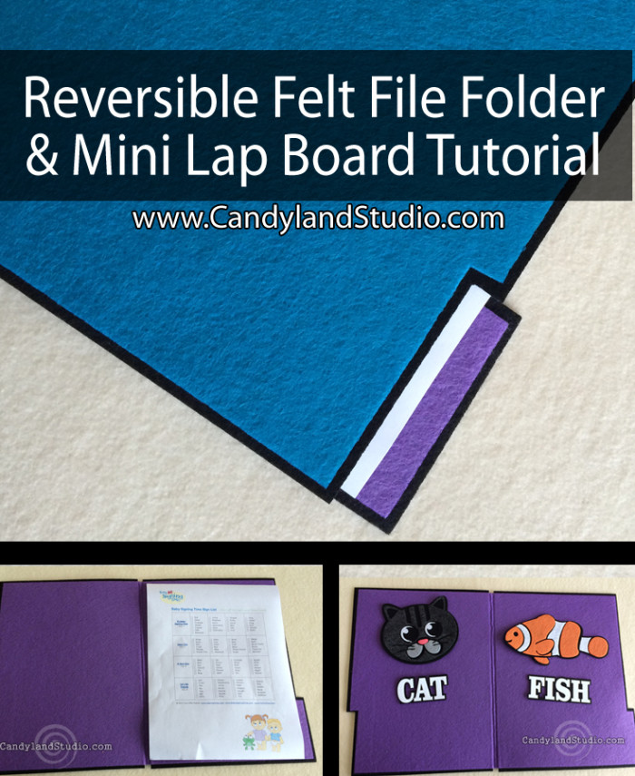 Reversible Felt File Folder/Mini Lap Board by Candyland Studio