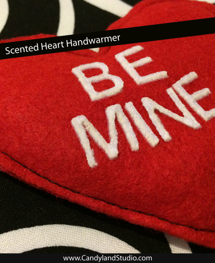 Scented Felt Heart Handwarmer Rice Bag by Candyland Studio