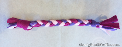 Braided Felt Dog Toy