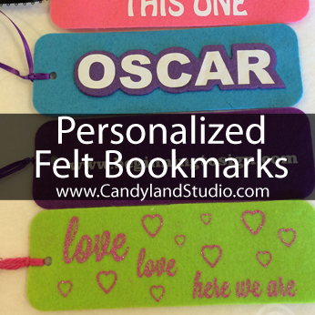 Personalized Felt Bookmarks