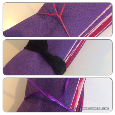 Tied Felt Strips
