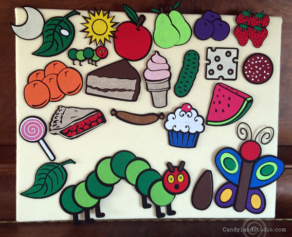 The Very Hungry Caterpillar Felt Set by Candyland Studio