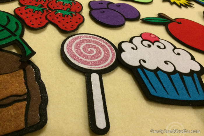 The Very Hungry Caterpillar Detailed Felt Pieces