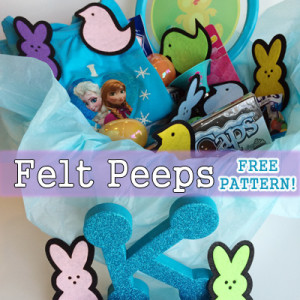 Felt Peeps for Easter Basket