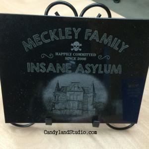Meckley Family Insane Asylum Laser Engraved Granite Plaque