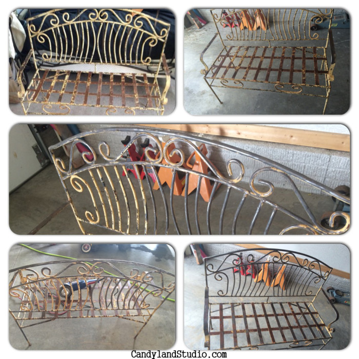 Vintage Iron Bench Revamp