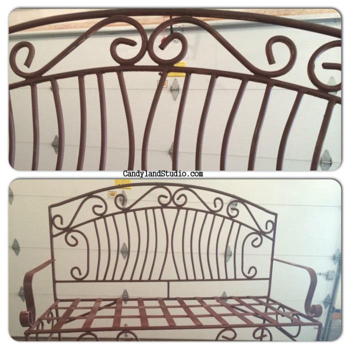 Primed WRought Iron Bench