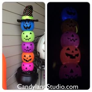 Candyland Studio Pumpkin Totem Prop