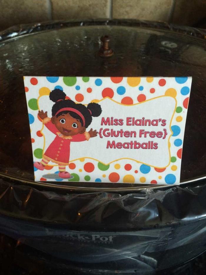 Daniel Tiger food - Miss Elaina's Gluten Free Meatballs