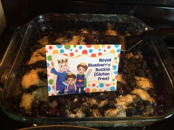 Daniel Tiger food - Royal Gluten Free Blueberry Buckle