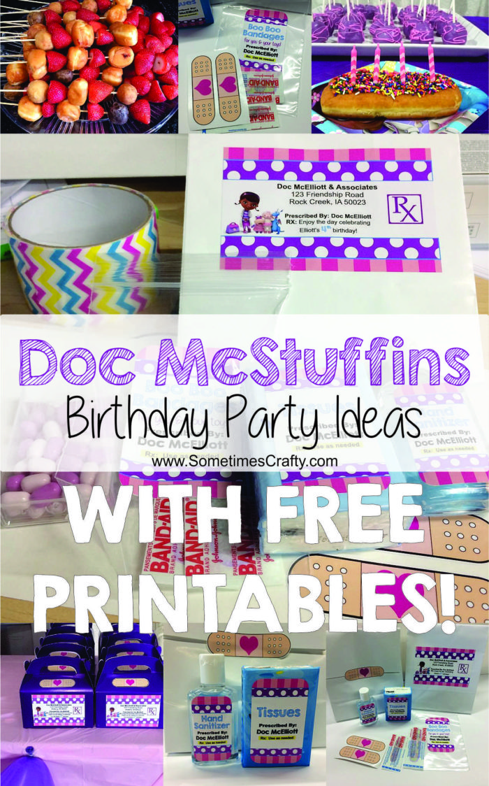 Doc McStuffins Birthday Party Ideas with Free Printables by Sometimes Crafty