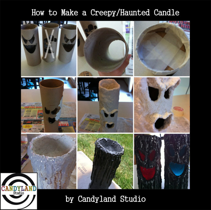 How to Make a Haunted Creepy Candle by Candyland Studio
